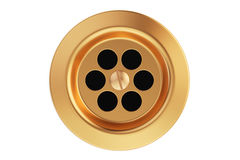 Kitchen sink drain, round plug hole. 3D rendering Royalty Free Stock Photography