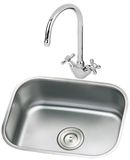 Kitchen sink and faucet Royalty Free Stock Photo
