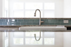 Kitchen sink faucet Stock Photo