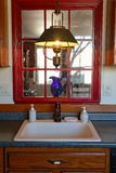 Kitchen Sink in Traditional American Style House stock image