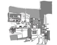 Kitchen sketch Stock Image