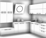 Kitchen sketch Royalty Free Stock Photos
