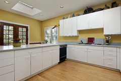 Kitchen with skylight Stock Photography