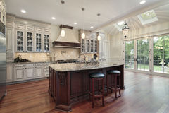 Kitchen with skylights Stock Image