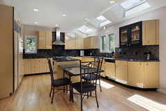 Kitchen with skylights Stock Photos