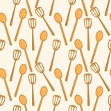 Kitchen spatula seamless pattern vector illustration