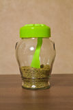 Kitchen spice jar Stock Photo
