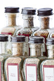 Kitchen Spices. Different flavored spices that can be found in a kitchen Royalty Free Stock Photos