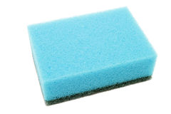 Kitchen sponge. Isolated on a white background stock images