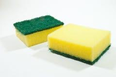 Kitchen sponge. On white background Stock Images