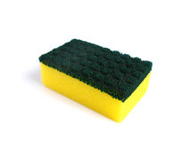 Kitchen sponge. In a white background Stock Photo