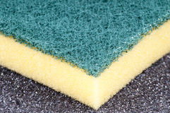 Kitchen Sponge close up. Kitchen Sponge on the empty area Stock Photo