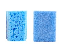 Kitchen sponge front and back view Stock Photography