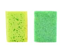 Kitchen sponge front and back view Stock Images