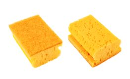 Kitchen sponge front and back view Stock Image