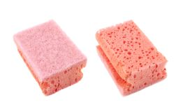 Kitchen sponge front and back view Royalty Free Stock Images