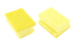 Kitchen sponge front and back view Royalty Free Stock Image