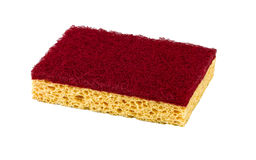 A kitchen sponge isolated Stock Images