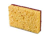 A kitchen sponge isolated Stock Photography