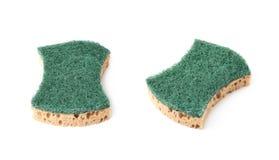 Kitchen sponge isolated stock photography