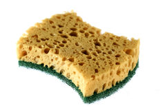 Kitchen sponge isolated on a white Stock Image