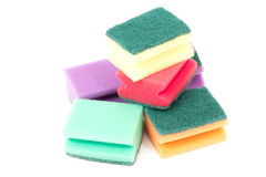 Kitchen sponge royalty free stock photo