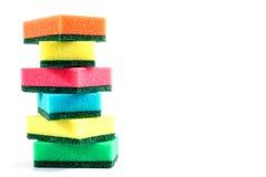 Kitchen sponge isolated on white background Stock Photo