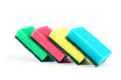 Kitchen sponge isolated on white background Stock Image