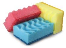 Kitchen sponge isolated on white background Royalty Free Stock Image
