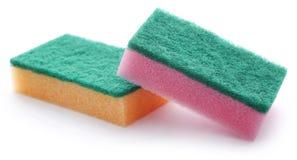 Kitchen sponge with scotch brite stock photo