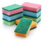 Kitchen sponge with scotch brite stock image