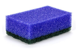 Kitchen sponge for washing dishes Royalty Free Stock Images