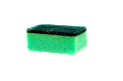 Kitchen sponge on a white background Royalty Free Stock Photo