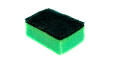 Kitchen sponge on a white background Royalty Free Stock Images
