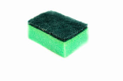 Kitchen sponge on a white background Royalty Free Stock Image