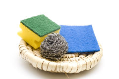 Kitchen Sponge With Sponge Cloth Royalty Free Stock Images