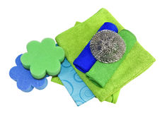 Kitchen sponges and rags Stock Photography