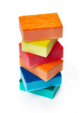 Kitchen sponges for washing dishes Royalty Free Stock Photos