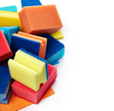 Kitchen sponges for washing dishes Stock Photo