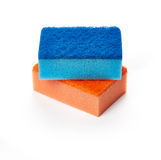 Kitchen sponges for washing dishes Royalty Free Stock Images