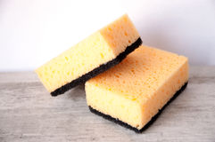 Kitchen sponges for washing dishes Stock Images