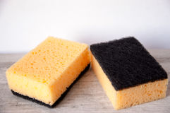 Kitchen sponges for washing dishes Royalty Free Stock Photo