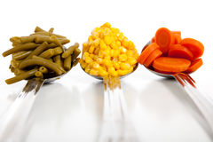 Kitchen Spoons with Vegetables Stock Image