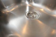 Kitchen Stainless Steel Sink Bowl. Modern stainless steel kitchen sink bowl Royalty Free Stock Images