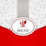 Kitchen sticker restaurant vecteur menu carte Stock Photography