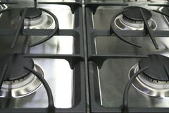 Kitchen Stove. Close up of a new kitchen stove Stock Image