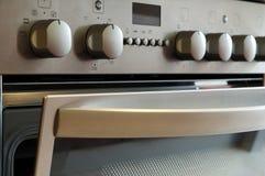 Kitchen stove, detail. Modern kitchen stove, detail button Stock Images