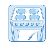 Kitchen stove Icon Stock Image