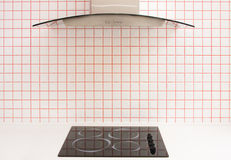 Kitchen stove with small ceramic tile Stock Image