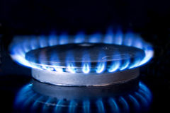 Kitchen Stove-top Flame Stock Image